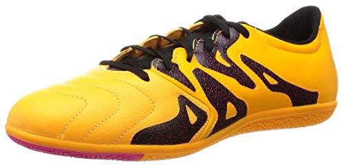 adidas Herren X 15.3 IN S74655 Fußballschuhe, Orange/Schwarz/Pink (Dorsol/Negbas/Rosimp), 42 EU