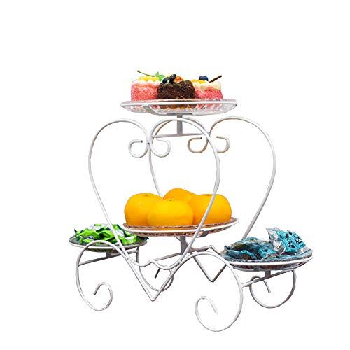 BAIJ Herzförmige Früchtekorb, Countertop-Frucht-Gemüse-Speicher-Stand, Perfekt Für Obst, Gemüse, Snacks, Haushaltsgegenstände,White