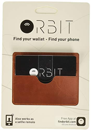 ORBIT CARD Bluetooth Tracker - Walletfinder Portmonee Finder ( iOS & Android App - Smartphone Finder - Selfie Fernbedienung - Trennungsalarm ) Kartenformat für Portmonees, schwarz