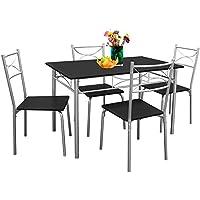 Deuba Ensemble Tables chaises Paul- Salon Cuisine terrasse Table Manger -Set 5 pcs