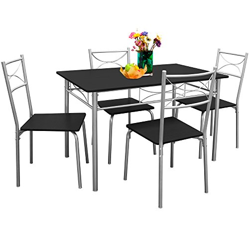 Ensemble tables et chaises Paul- salon cuisine terrasse table manger -Set 5 pcs