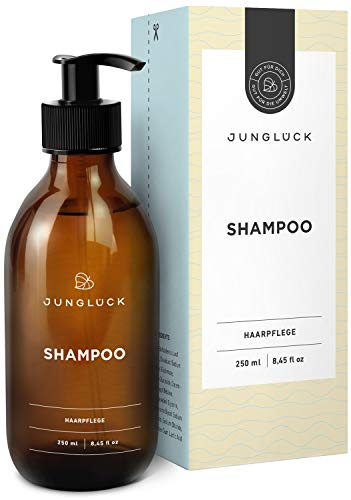 Junglück veganes Shampoo in Braunglas- Aloe Vera und natürliche Tenside reinigen und pflegen dein...