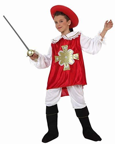 Musketier Degen Kostüm 3-teilig, 10-12 - Mousquetaire Kostüm