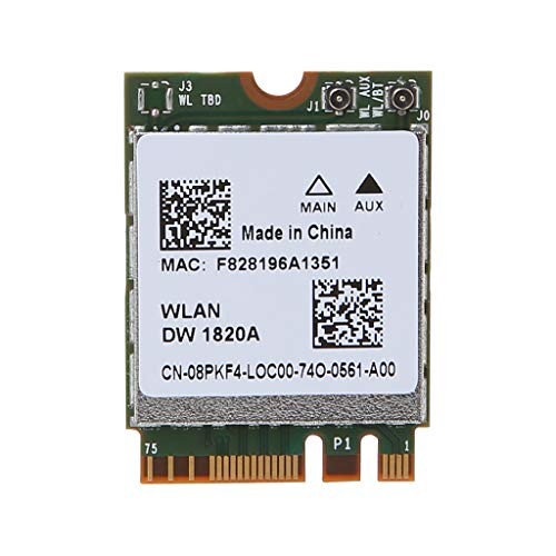 NAOTAI DW1820A BCM94350ZAE 802.11ac Bluetooth 4.1 867Mbps M.2 NGFF WiFi Wireless Card for Dell Laptops Computers