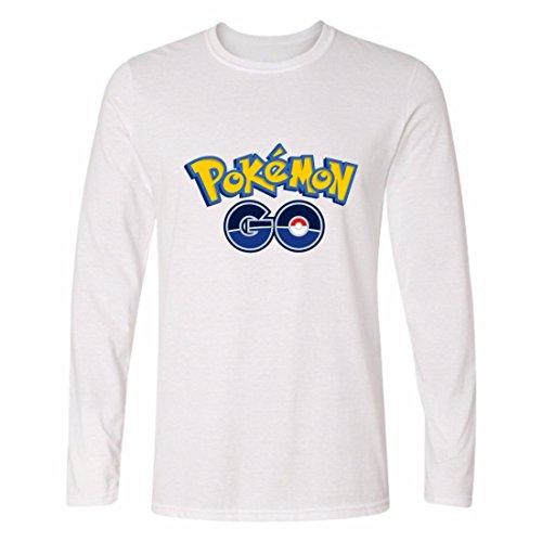 Men's Hip Hop Skateboard Pokemon Personalized Casual Sweatshirts white