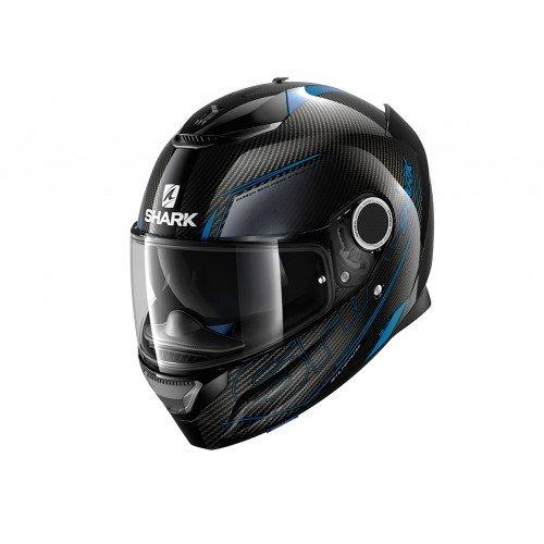 Shark Spartan Carbon Silicium, casco da moto, taglia L, nero/blu