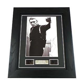 artcandi Steve McQueen Signed + Steve McQueen Bullitt Film Cells Framed