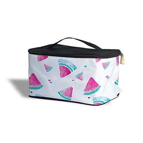 Watercolor Watermelon cosmétique Boîte de rangement – Maquillage fermeture éclair sac de voyage One Size Cosmetics Storage Case blanc