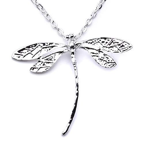 (JOYfree Libelle Halskette Tier Anhänger Insekt Form Baumeln Tropfen Niedliche Halskette Lange Schlüsselbein Schmuck Für Frauen Mädchen Kinder Geschenke)