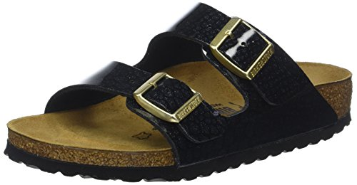 BIRKENSTOCK Damen Arizona Sandalen, Schwarz (Magic Snake Black Magic Snake Black), 36 EU