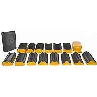 Bloque de lijado Kit 16piezas–Lija de mano Pad Kit con cierre de gancho y bucle