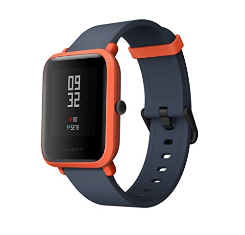 "Gshopper Smart Watch, AMAZFIT Bip Youth Edition Glonass GPS Heart Rate Sport Fitness Tracker Watch 1.28"" Screen 32g Ultra-Light IP68 Waterproof 45day Standby by Orange"