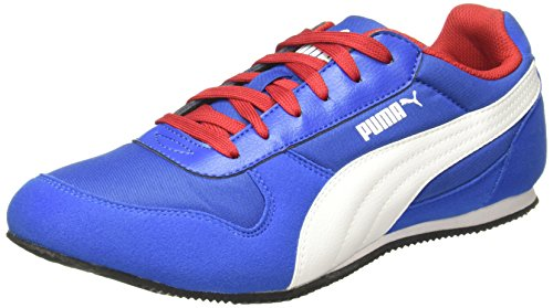 Puma Men's Superior Dp Lapis Blue-White-High Risk Red Sneakers - 8 UK/India (42 EU) (36174511)