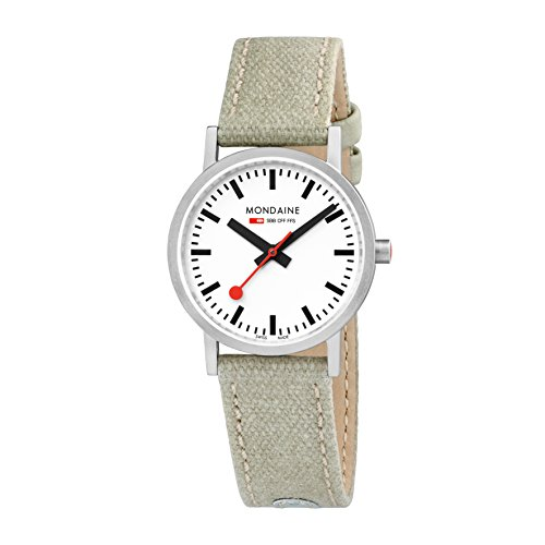 Mondaine Women's Analog Swiss-Quartz Watch with Canvas Strap A658.30323.16SBG