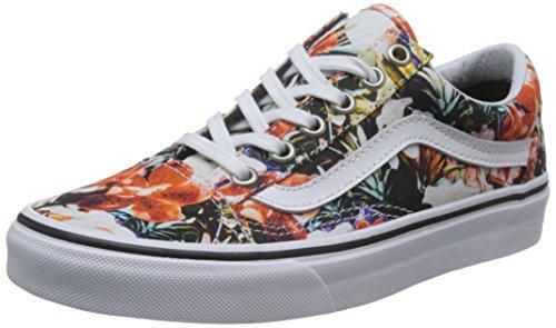 Vans , Damen Sneaker (Cuban Floral) Black/White (Herren Floral Halbschuhe)