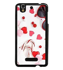 Fuson Designer Back Case Cover for YU Yureka :: YU Yureka AO5510 (Love Love Hearts Infactuation Togather In Relationship)