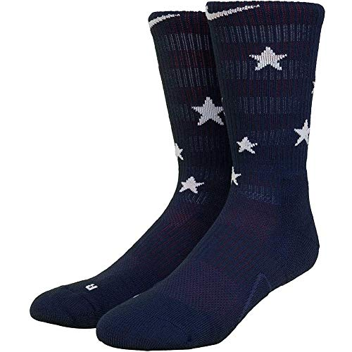 Nike Elite Basketball Crew Socks Basketballsocken, Midnight Navy/University red/White, L -