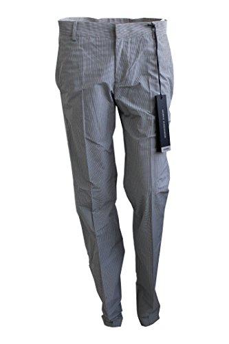 Daniele Alessandrini Pantalone Slim Uomo Grigio/Blu Made in Italy (Grigio/Blu, 42)