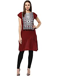 Ziyaa Casual Wear Maroon Coloured Kurta