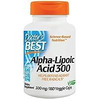 Doctor's Best, Best Alpha-Lipoic Acid (Alpha-Liponsäure), 300 mg, 180 Kapseln   Vegan   hochdosiert   ohne Gentechnik   universelles Antioxidans