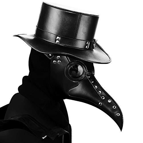 (HWQ Halloween Lange Mund Steampunk Pest Bird Mouth Maske Cosplay Bar Party Prop Gift)