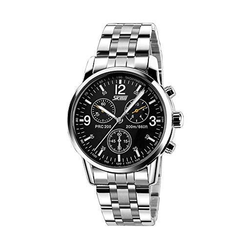 Skang 2019 Bequem Herren Uhren Stahlgürtel-Sportuhr Mann DüNne Mode Luxus Armbanduhr Elegant Business Stahlgürtel Uhr