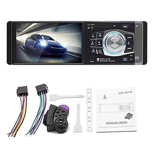 Elementral 1 DIN-Auto-MP5-Player Bluetooth-FM-Transmitter-Radio-Stereo-Head-Einheit mit Fernbedienung kann an Kamera-4,1 Zoll angeschlossen Werden -