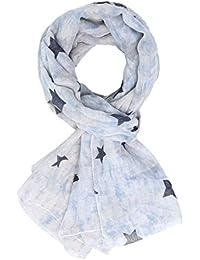 DonDon weicher Damen Schal im Vintage Look mit Sternen