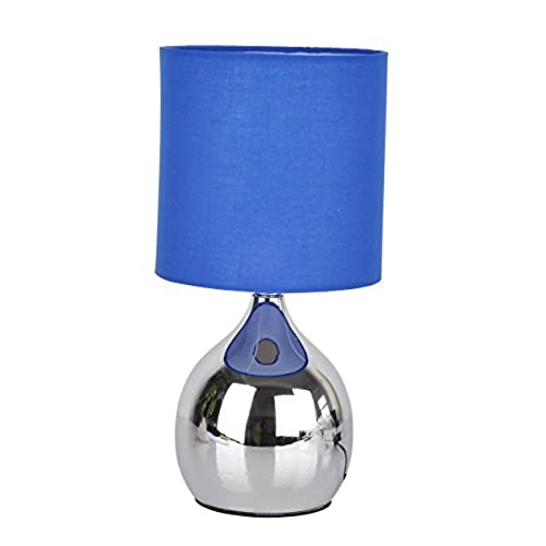 Table lamp stand amazon modern touch lamp lounge bedside table lights lamps chrome copper finish blue aloadofball Choice Image