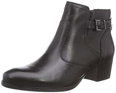 Tamaris  1-1-25003-25 001, Bottes  courtes, doublure froide femmes - Noir - Noir, 35 EU
