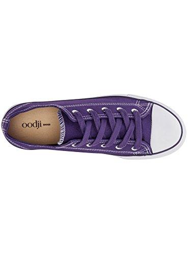 oodji Ultra Donna Sneakers di Tela con Punta in Gomma Viola (8310B)