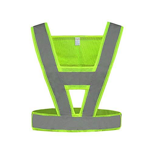 XBQXF Reflektierende Weste, Hochfestes Reflektierendes Tuch, Frost-beständig/Radfahren Sicherheitsweste/Road Construction Schutzweste (Farbe : Fluoreszierendes Gelb, größe : 4 packs)