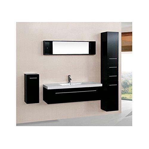L'Aden Wengé : Ensemble salle de bain, 1 vasque et 1 miroir