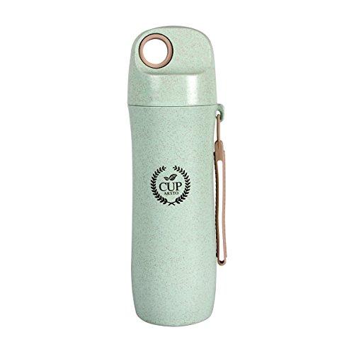Bottiglia acqua sportive - orime bottiglie acqua portatili di nuova generazione 420ml bpa-free con riutilizzabile per ufficio, scuola, all'aperto, campeggio, viaggio, bambini, unisex