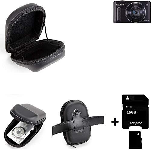 K-S-Trade® Gürteltasche Für -Canon PowerShot SX610 HS- Kameratasche + 16GB Speicherkarte Hardcase Kompaktkamera Easy Access Leicht Zugänglich Case Schutz Hülle Fototasche