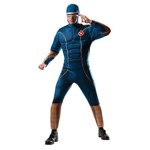 Cyclops Footie Herren Kostüm Superheld X-Men-Kunstdruck, (Cyclops Marvel Kostüm)