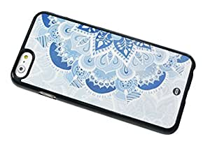 1888998658545 [Global Case] Marrocan Mandala Fiore modello Blu Verde Art arabo Azteco Etnico Tribal Maya Fiori Mosaico Orientale Oriente (NERO COVER) Skin Case Custodia Morbida Rigida Protettiva Leggera per Apple iPhone 5 / 5S