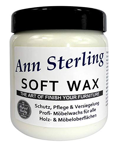 """Ann Sterling""""Soft Wax"""" Wachs Möbelwachs Shabby Chic Holzwachs Versiegelung Finish Wachs Kalkwachs (250ml, Weiß)"""