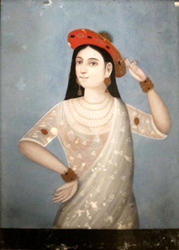 Das Museum Outlet-Anonymous Rückseite Malerei auf Glas einer Frau, Western Indien, Ende 19. Jahrhunderts-Poster Print Online (A3Poster)