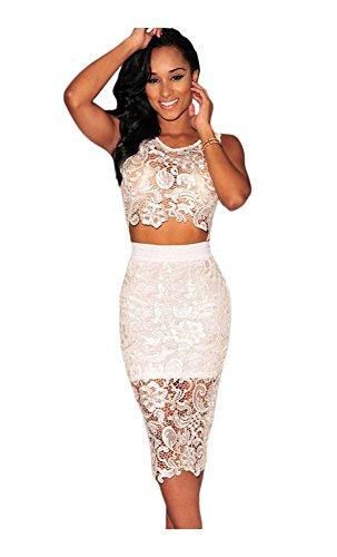 Mela Proibita Damen Schlauchkleid Kleid Weiß