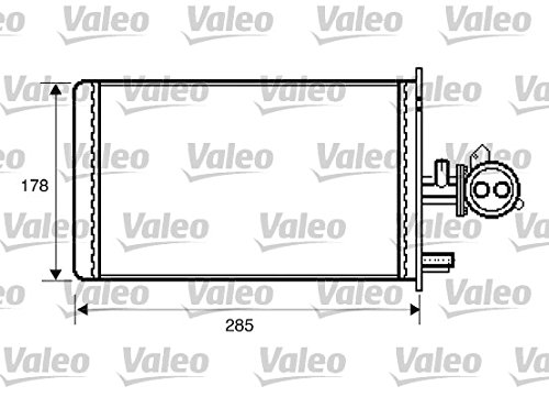 Valeo 812337 Wärmetauscher, Innenraumheizung