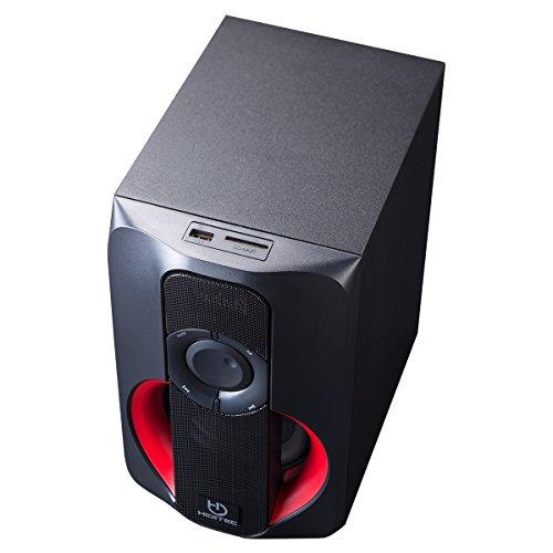 Hiditec - Altavoces H400 - Sistema de sonido 2.1 (Bluetooth 4.1, USB, SD, 40W RMS, Line-In)