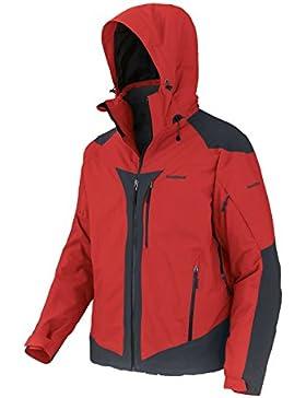 Trangoworld Naviru Chaqueta, Hombre, Rojo Fuego / Sombra Oscura, XL