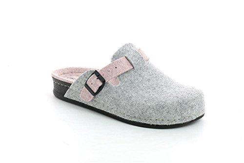 Grunland Reps femmes, laine, chaussons CENERE-CIPRIA