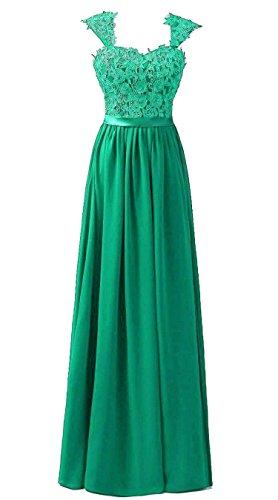 Vantexi Frauen Chiffon Lange Formal Abendkleider Ballkleid Abschlussball Kleider Smaragd Größe 60