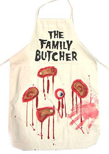 erdbeerclown - Halloween Kostüm Horror Blutige Fleischer Metzger Schürze, ()