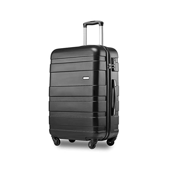 76e02c90dc Merax ® Super Lightweight ABS Hard Shell Travel Carry On Cabin Hand Luggage  Suitcase with 4