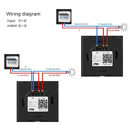 Wifi Smart Touch Switch Works With Amazon Alexa Sonoff 1