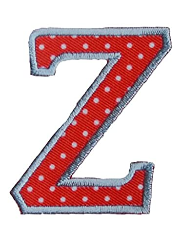 Z Red White ABC letter 9cm big for names crafts jeans clothing fabric to iron on hat door hat skirt dresses cap jacket neckerchief ceiling flag pants plate backpack trousers cushion scarf bunting bag to personalise gifts for nursery christening arts personally boy embroidered sports football baby baptism club city girl personalized decoration personal application mend wall applique personalise arts sewing decorating wall personalise idea idea iron on patches creative craft sew on birth
