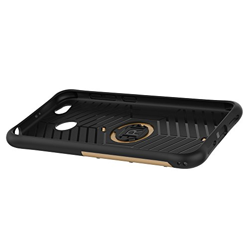Für Xiaomi Hongmi 4x Fall Neue Rüstung Tough Style Hybrid Dual Layer Rüstung Defender Soft TPU / PC Rückseitige Abdeckung Fall mit 360 ° Stand [Shockproof Case] ( Color : Silver ) Gold